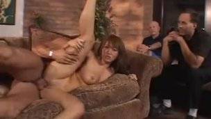 ScrewMyWife Asian slutty wife cuckolding in front of husband and friend