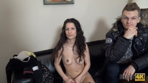 HUNT4K Couple agree to let him fuck girlfriend for cash cuckold