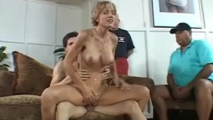 ScrewMyWife blonde wife fuck in front of husband and friend