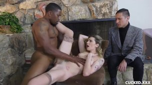 CuckedXXX Dahlia Sky interracial fuck big black dude cuckolding