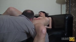 HUNT4K cuckold euro wife do it next to husband for money