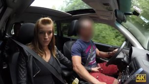 HUNT4K. Beauty fucked hard in car while BF received stack of cash