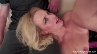 SwingMyWife blonde wife excited to try another guy